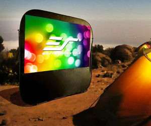 Pop-Up Portable Projector Screen