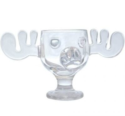 National Lampoon's Christmas Vacation Glass Moose Mug