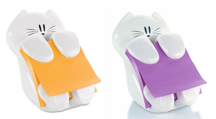 . Post-It Notes Cat Dispenser