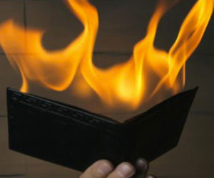 Flaming Wallet Magic Trick